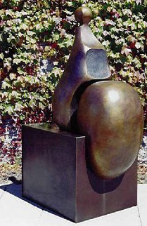 Seated V Bronze Sculpture 2001 64 in Sculpture - Robert Holmes