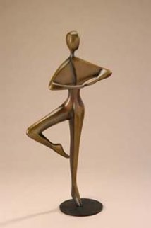Pirouette (Small) Bronze Sculpture 18 in Sculpture - Robert Holmes