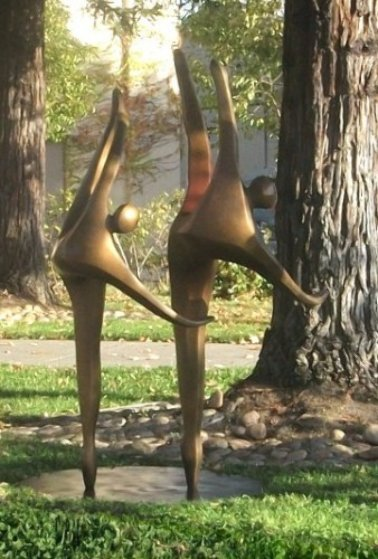 Dancers on One Toe (Medium)  AP Bronze Sculpture 2008 60x40 in Sculpture by Robert Holmes