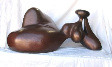 Eve Reclining Bronze Sculpture AP 24x36 in Sculpture - Robert Holmes