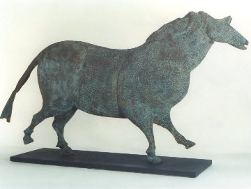 Cave Horse Bronze Sculpture 1998 55x32 in Sculpture - Robert Holmes