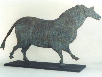 Cave Horse Bronze Sculpture 1998 55x32 in Sculpture - Robert Holmes