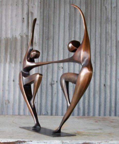 Dancers IV (Small) Bronze Sculpture 26 in Sculpture by Robert Holmes