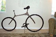 Bicycle Bronze Sculpture 68 in Life Size Sculpture by Robert Holmes - 4