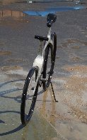 Bicycle Bronze Sculpture 68 in Life Size Sculpture by Robert Holmes - 6