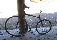Bicycle Bronze Sculpture 68 in Life Size Sculpture by Robert Holmes - 2