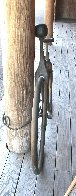 Bicycle Bronze Sculpture 68 in Life Size Sculpture by Robert Holmes - 7