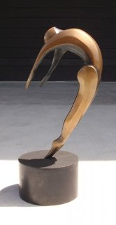Arched Dancer Bronze Sculpture AP 16 in  Sculpture by Robert Holmes