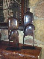 I Am (Standing Pair) Bronze Sculpture Sculpture by Robert Holmes - 2