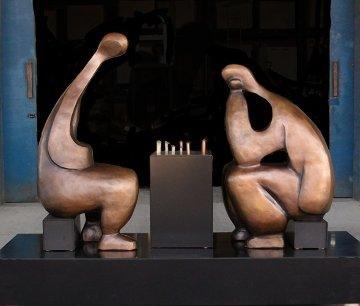Game Bronze Life Size Sculpture, 5 Ft  Sculpture - Robert Holmes