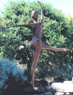She Dances Life Size Bronze Sculpture 2003 6 Ft. Sculpture - Robert Holmes