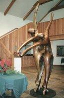 Dancers II Bronze Sculpture, 11 Ft. 126 in Sculpture by Robert Holmes - 1