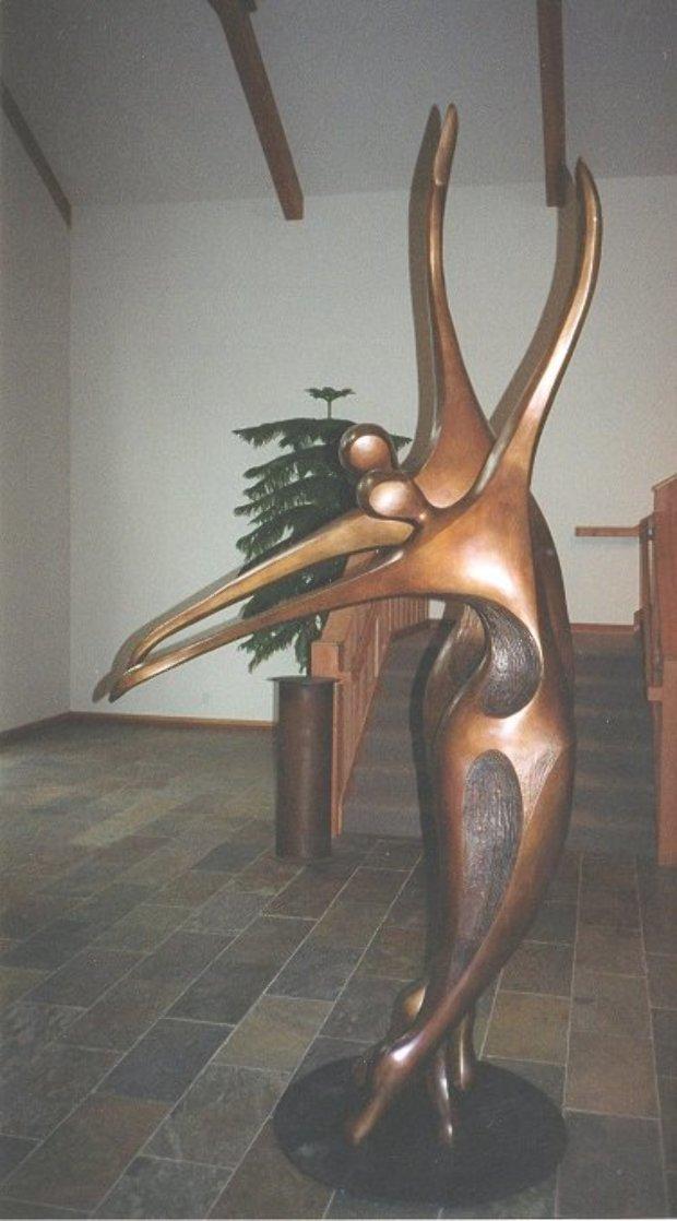 Dancers II Bronze Sculpture, 11 Ft. 126 in Sculpture by Robert Holmes