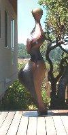 Strolling Woman Bronze Life Size Sculpture 6 Ft Sculpture by Robert Holmes - 1