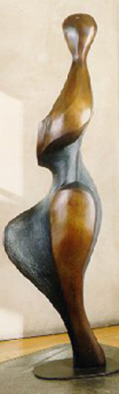 Strolling Woman Bronze Life Size Sculpture 6 Ft Sculpture by Robert Holmes