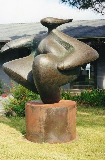 Spinning Dancer Bronze Sculpture, Monumental 57x54 in Sculpture - Robert Holmes