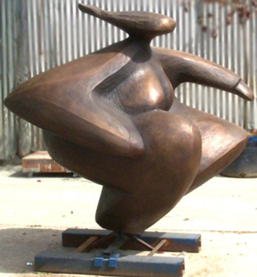 Spinning Dancer Bronze Sculpture, Monumental 57x54 in Sculpture by Robert Holmes