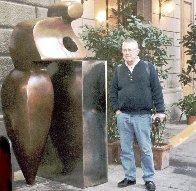 Mr. G Bronze Sculpture Life Size 2002  7 Ft. Sculpture by Robert Holmes - 1