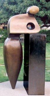 Mr. G Bronze Sculpture Life Size 2002  7 Ft Sculpture by Robert Holmes