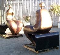 Mr. And Mrs. Nantua Bronze Sculpture 1999  6 Ft Sculpture by Robert Holmes - 1