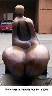 Mr. And Mrs. Nantua Bronze Sculpture 1999  6 Ft Sculpture by Robert Holmes - 5