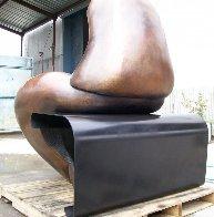 Mr. And Mrs. Nantua Bronze Sculpture 1999  6 Ft Sculpture by Robert Holmes - 7