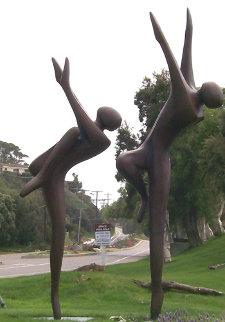 Just Dancing Bronze Sculpture, Monumental Size 1996 124 in Sculpture by Robert Holmes
