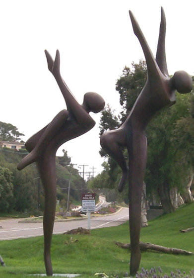 Just Dancing Bronze Sculpture, Monumental Size 1996 124 in Sculpture by Robert Holmes