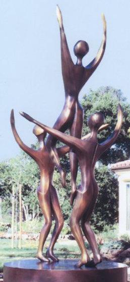 Rhapsody (3 Figures) Bronze Sculpture 1996  96 inches Sculpture by Robert Holmes