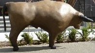 Cave Bull (Monumental), Bronze Sculpture Ap 50x76 Inches Sculpture by Robert Holmes - 0