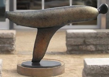 Skater (Large) Bronze Sculpture 48x84 in Sculpture by Robert Holmes