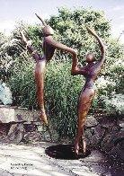 Ascending Dancers (Monumental) Bronze Sculpture 123 in high Sculpture by Robert Holmes - 4