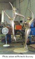 Ascending Dancers (Monumental) Bronze Sculpture 123 in high Sculpture by Robert Holmes - 5