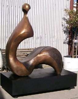 Cici (Large) Bronze Sculpture 1992 60x60x27 Sculpture by Robert Holmes