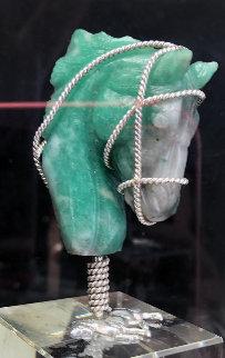 Fuego Verde Green Fire Emerald Jewelry 2018 5 in Sculpture - Michele Ribeiro