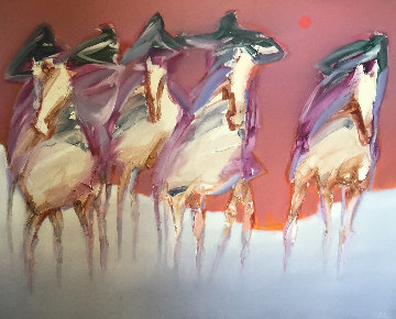 Ghost Mustangs 50x60 Original Painting by Jean Richardson