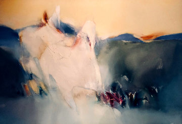 Far Horizon 50x72 Original Painting - Jean Richardson