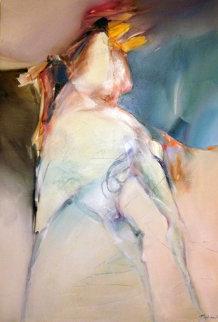 Horses 1988 60x45 Original Painting - Jean Richardson
