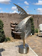 Swan Metal Unique Sculpture 2001 50 in Super Huge Sculpture by John Richen - 9