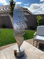 Swan Metal Unique Sculpture 2001 50 in Super Huge Sculpture by John Richen - 4