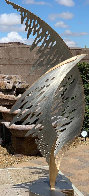 Swan Metal Unique Sculpture 2001 50 in Super Huge Sculpture by John Richen - 0