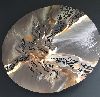 Untitled Stainless Steel And Bronze Sculpture 1990 72 in Sculpture by John Richen