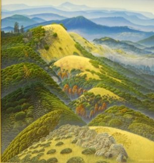 Garzas Canyon Dream 1996 19x18 Original Painting - Bruce Ricker