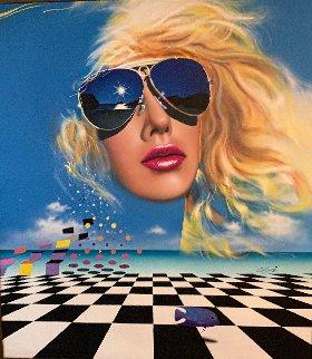 Untitled Painting 1985 55x50 Original Painting - Rick Garcia