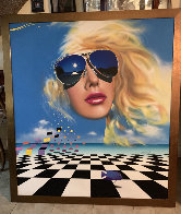 Untitled Painting 1985 55x50 Super Huge Original Painting by Rick Garcia - 1