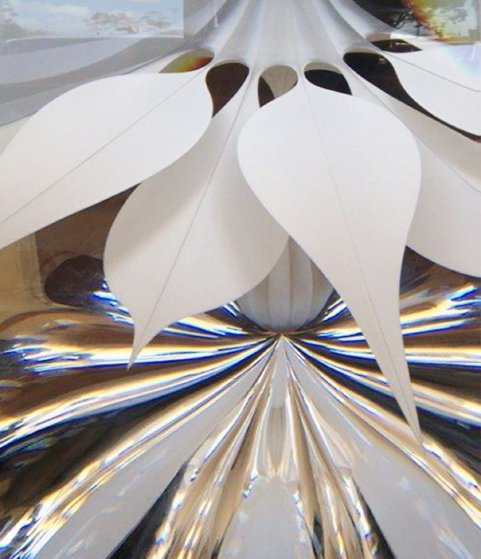 Desert Flower Unique Glass Sculpture 2003 38 in Sculpture by Christopher Ries