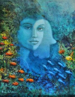 Hamsa 2005 Original Painting by Rina Sutzkever