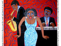 Mama Can Sing You Put the Devil in Me (From the Jazz Series) 2004 Limited Edition Print by Faith  Ringgold - 1