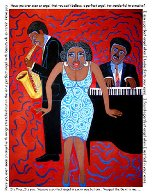 Mama Can Sing You Put the Devil in Me (From the Jazz Series) 2004 Limited Edition Print by Faith  Ringgold - 2