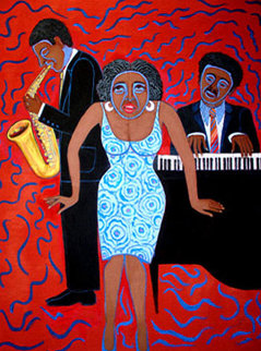 Mama Can Sing You Put the Devil in Me (From the Jazz Series) 2004 Limited Edition Print - Faith  Ringgold